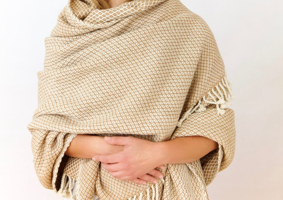 Hand-Woven Baby Camel and Merino wrap.
